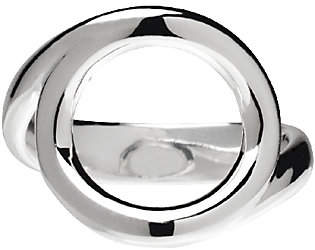 UltraFine Silver Polished Open Circle Ring