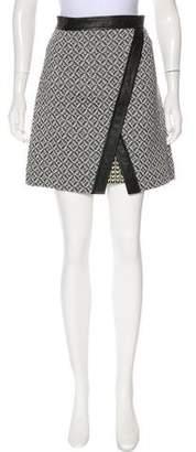 Tamara Mellon Printed Mini Skirt