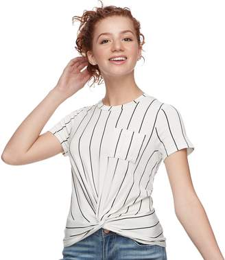Love, Fire Love Fire Juniors' Twist Front Tee