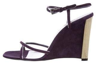 Prada Suede Wedge Sandals