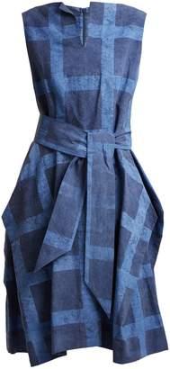 VIVIENNE WESTWOOD ANGLOMANIA Lotus checked tie-waist cotton dress