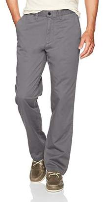 Nautica Men's Cotton Twill Flat Front Chino Pant