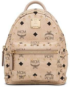 MCM Stark Outline Studs Backpack Xmini