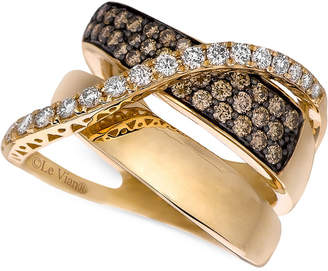 LeVian Le Vian Chocolatier® Gladiator® Diamond Crossover Ring (1-1/5 ct. t.w.) in 14k Gold