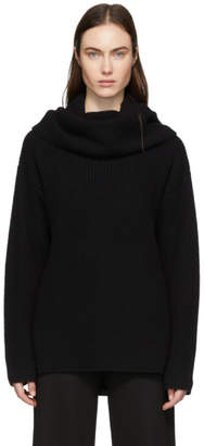 Joseph Black Cashmere Purl Turtleneck