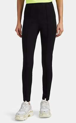 Balenciaga Women's Logo-Waist Crepe-Jersey Leggings - Black