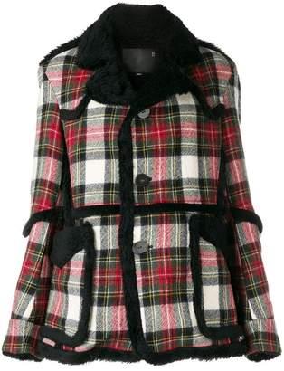 R 13 check pattern coat