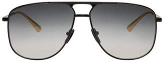 Gucci Black 80s Aviator Sunglasses