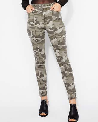 Express High Waisted Camo Ankle Leggings