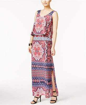 Ny Collection Printed Popover Maxi Dress $70 thestylecure.com