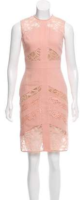 Elie Saab Sleeveless Lace-Paneled Dress