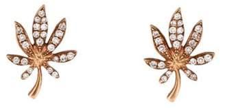 14K Diamond Palm Tree Earrings rose 14K Diamond Palm Tree Earrings