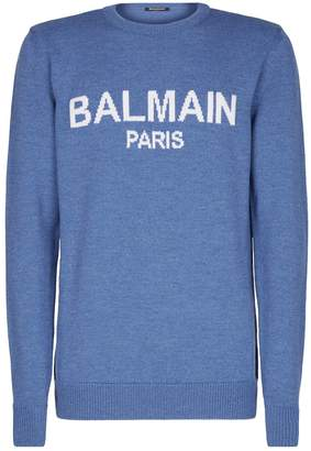 Balmain Wool Logo Sweater