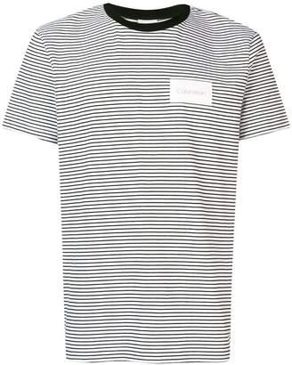 Calvin Klein striped logo patch T-shirt