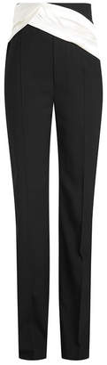 Wool Pants with Draped Detail