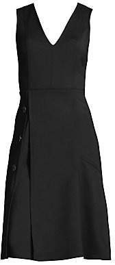 Derek Lam Women's V-Neck A-Line Dress