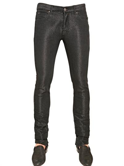 17cm Lurex Denim Jeans