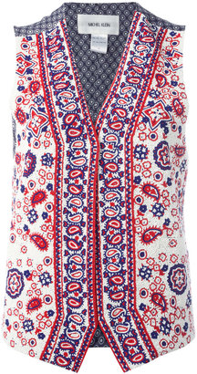 Michel Klein paisley bead waistcoat $858.76 thestylecure.com