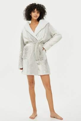 Topshop Snow Leopard Robe