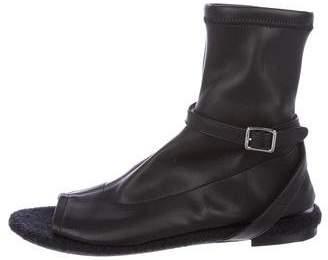 Maison Margiela Leather Peep-Toe Sandals