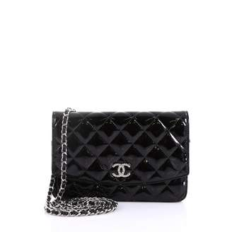 09c5f039be Chanel Wallet on Chain Black Patent leather Handbag