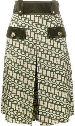 Gucci horsebit print knee length shorts