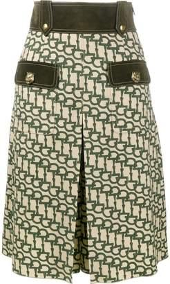 Gucci horsebit print knee length shorts