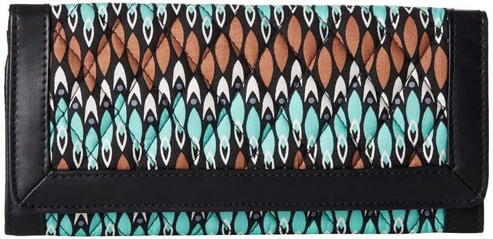Vera Bradley Trimmed Vera Wallet Wallet Handbags - SIERRA STREAM - STYLE