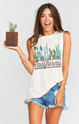 Show Me Your Mumu Mikey Muscle Tank ~ California Cactus Graphic