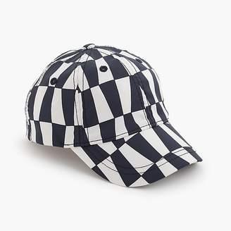 J.Crew Kids' quick-drying baseball cap in geometric print