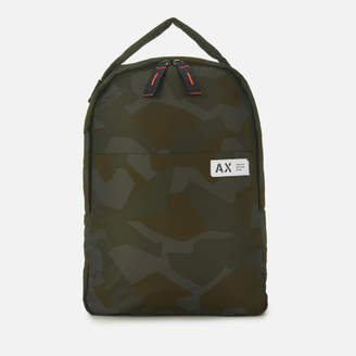 00095773d1f at TheHut.com · Armani Exchange Men s Padded Nylon Backpack