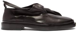 Jil Sander Knot Front Leather Loafers - Womens - Black