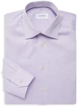 Eton Slim-Fit Cotton Twill Dress Shirt
