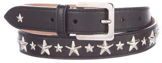 Jimmy Choo Jimmy Choo Star-Embellished Leather Belt