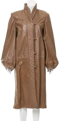Fendi Puffed Leather Coat