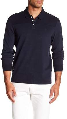 Original Penguin Long Sleeve Sueded Pieced Polo