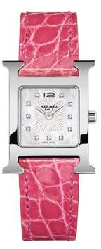 Hermes Watches Heure H Gold-Plated Watch