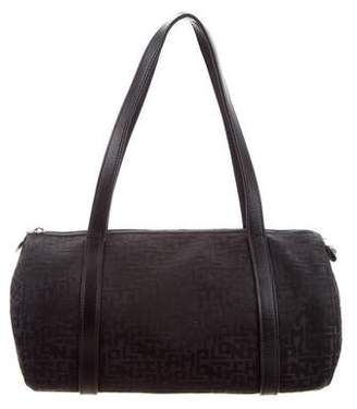 Longchamp Logo Leather-Trimmed Bag