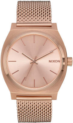 Nixon Women's Time Teller Milanese Stainless Steel Bracelet Watch 37mm