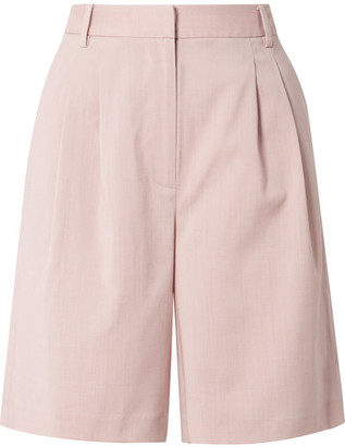 Tibi Wool-blend Shorts - Blush