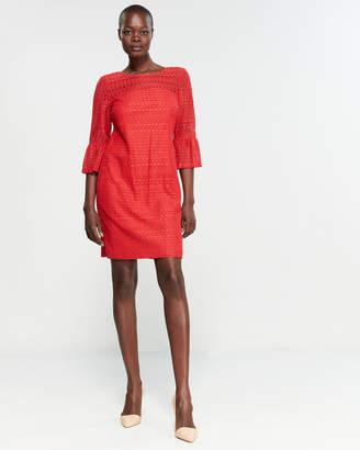 Sandra Darren Poppy Lace Sheath Dress