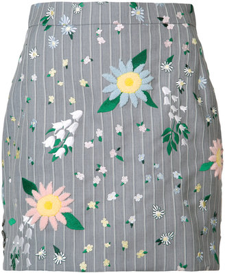 Thom Browne floral mini skirt $2,100 thestylecure.com