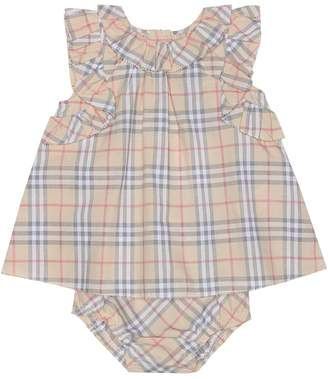 Burberry Baby check cotton dress and bloomers set