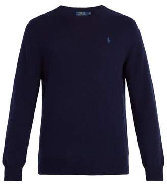Polo Ralph Lauren Logo Embroidered Cashmere Sweater - Mens - Navy