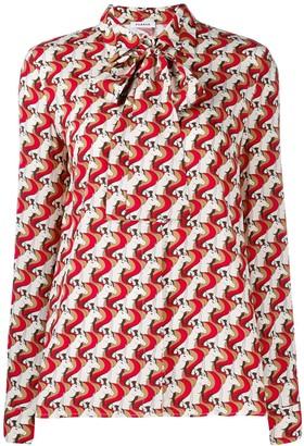 P.A.R.O.S.H. geometric print blouse
