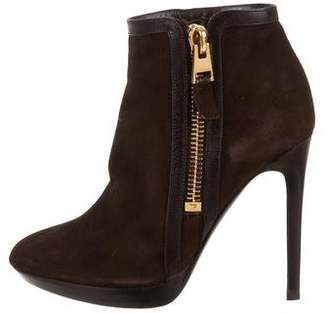 Tom Ford Suede Round-Toe Ankle Boots