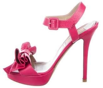 Valentino Leather Wedge Sandal