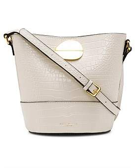 Kurt Geiger London 690-Petal Bucket Bag-Bone-Leather