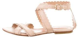 See by Chloe Scalloped Crossover Sandals