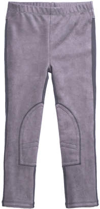 Imoga Stretch Faux-Suede Contrast-Back Pants, Size 8-14